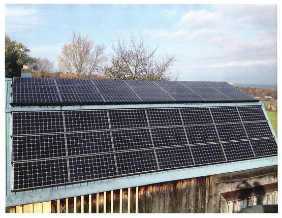 Solar on a barn