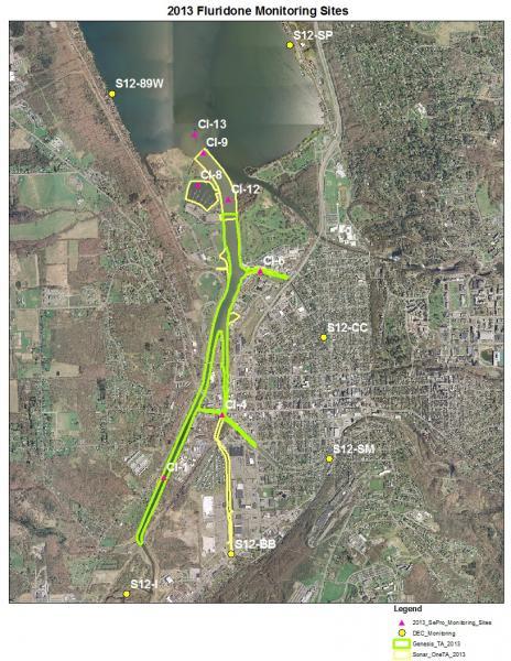 Fluridone Monitoring in Cayuga Inlet 2012
