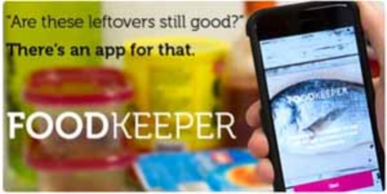 Graphic to use for sidebar with USDA FoodKeeper app, at: