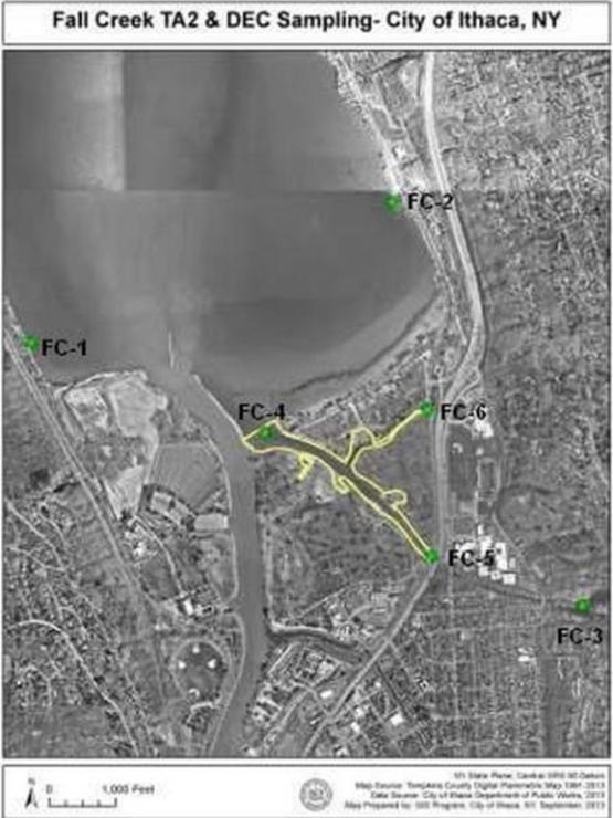 2013 Endothall Monitoring/Treatment Fall Creek - Hydrilla Treatment