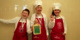 "Clinton County 4H's ""Healthy Trio"" taking third place at North Country Jr. Iron Chef on March 12, 2016."