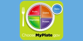 MyPlate logo with blue background