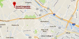 Googlemap image of map to CCE Oneida center