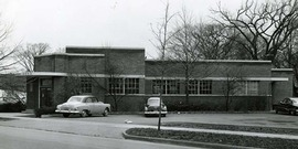 Mother Zero building at Fulton & Meadow Streets, circa 1944.  This became the CCE-Tompkins Home & Farm Center.