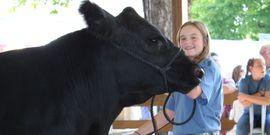 Jordan radley and reserve grand champion steer