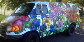 The flower van