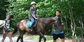horseback riding at camp