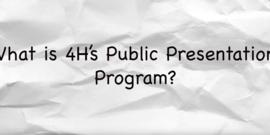 4-h public presentations