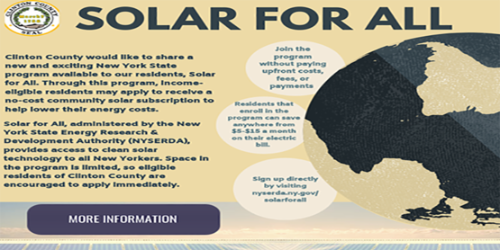 Solar For All graphic with info that can be found as text below the image