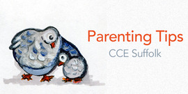 parenting tips podcast logo