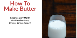 Celebrate Dairy Month with Farm Day Camp director Carmen Kenney!