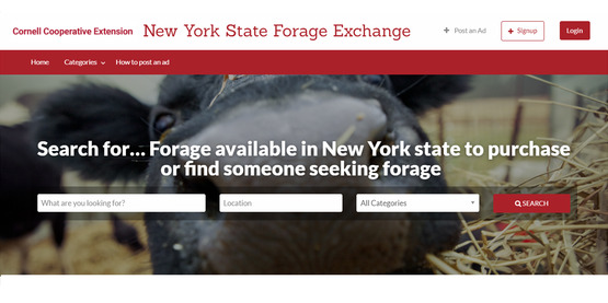 NYS Forage Exchange website