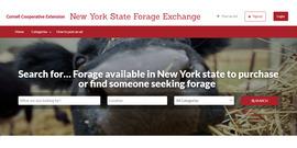 NYS Forage Exchange website