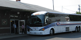 Bus at the Ithaca Bus Terminal; way2go