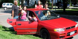 Staff from CCE-Tompkins share a car; carsharing, way2go