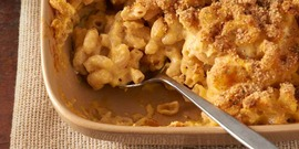 Creamy Macaroni and Cheese with butternut or acorn squash