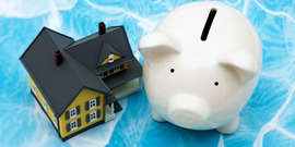 Piggy bank and model home