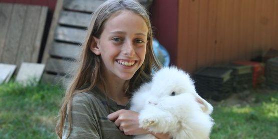 girl with bunny