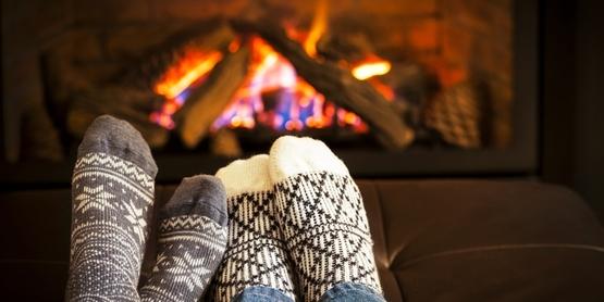 Fireplace coziness