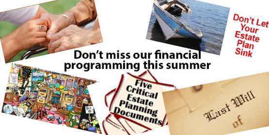 Dont miss our financial programs