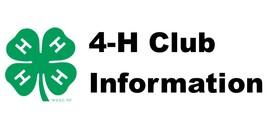 4h club information banner