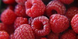 photo of fresh raspberries