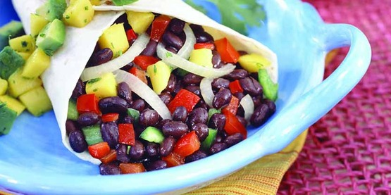 Veggie bean wrap, photo from the California Nutrition Network Recipe Images, posted on the USDA images website.