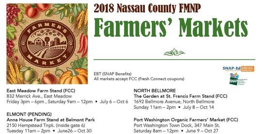 Nassau farmers markets 2018 amended 6 13 18