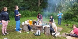 tent camp, camp, tent, outdoor cooking