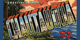 Greetings fom Chautauqua vintage postcard