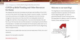 Farmer COVID Relief Grant Funding Announcement