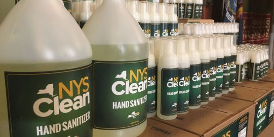 NYS hand sanitizer and masks will be available for local farms