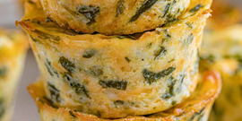 Fresh Spinach Frittata Recipe card