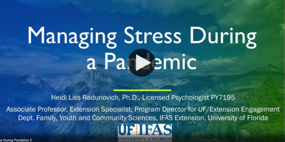 """Opening shot from video """"How to Manage Stress During A Pandemic"""""""