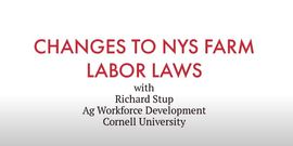 Richard Stup of Cornell Ag Workforce talks about changes to NYS Labor Laws in 2020