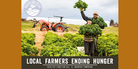 Local Farmers Ending Hunger - photo of couple in field with vegetables