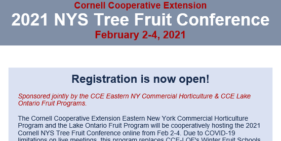 2021 NYS Tree Fruit Conference