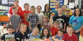 Mrs. Wescott's 3rd Grade class Davis school ag in the classroom