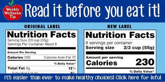 New nutrition label