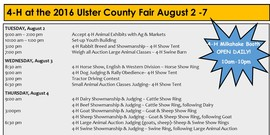 2016 fair insert schedule