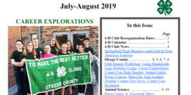 4-H July-August 2019 News Cover