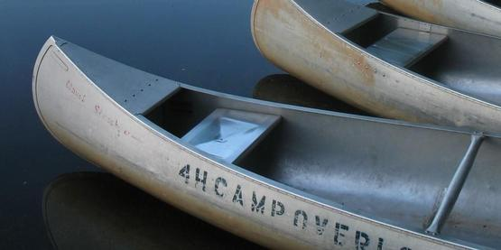 canoes at 4-H Camp Overlook