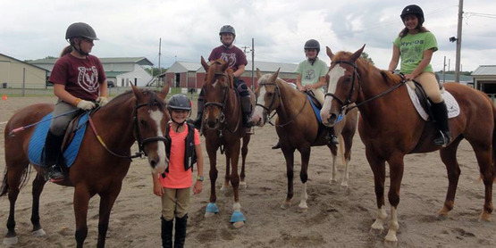 Livingston County Horse Camp Participants At The Hemlock Fairgrounds