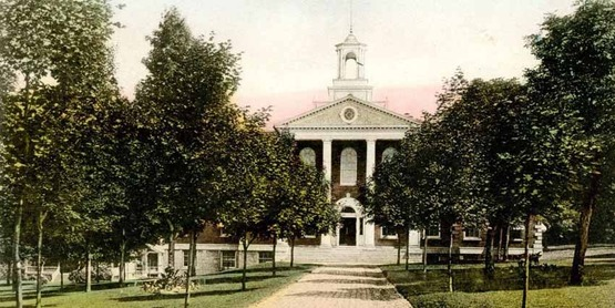 Livingston County Courthouse, Geneseo,  from a vintage postcard
