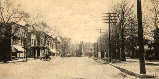 Main Street in Caledonia,  from a vintage postcard, 1915