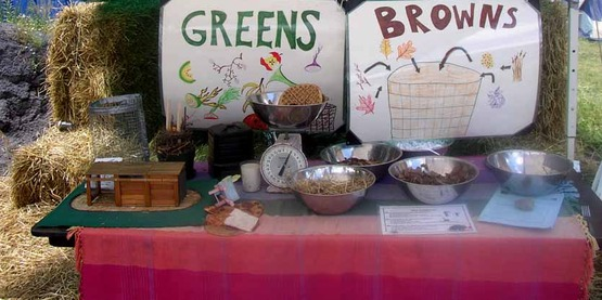 "Compost display - ""greens & browns"""