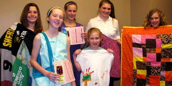 Youth show off their work at the Creative Fiber Arts Revue.