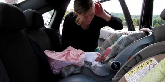 Car seat checkup, Livingston County