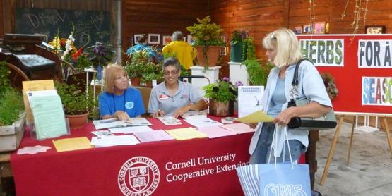 The Master Gardener booth at the Altamont Fair