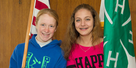 Two 4-H members at Achievement Day.